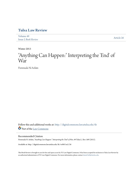 Anything Can Happen_ Interpreting the End of War